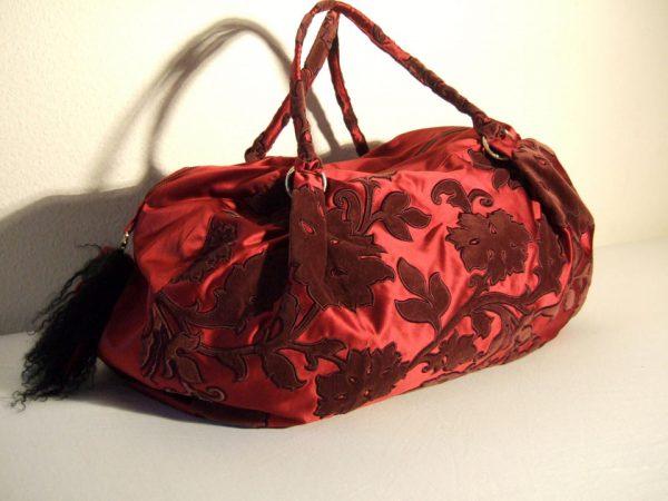 Grado Grande - Kleine dunkelrote Reisetasche